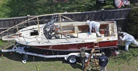 FBI investigators scoured Henneberry's boat for clues after police had captured Dzhokhar Tsarnaev in Watertown.